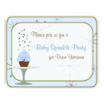 Baby Sprinkle Party Invitation in Blue