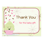 Baby Sprinkle Party Thank You in Pink Post Card
