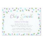 Baby Sprinkle / purple green gray confetti invites