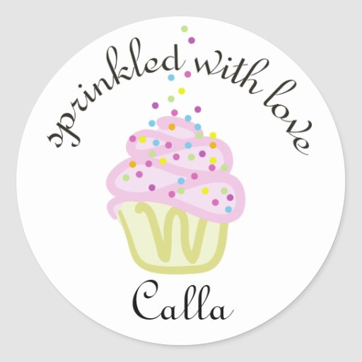 Baby Sprinkle Shower Cupcake Stickers, Large