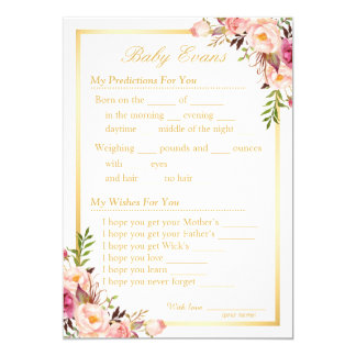 baby sprinkle shower guessing game and wishes card