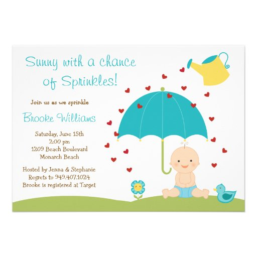 baby sprinkle shower invitation zazzle