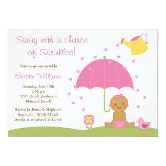 Baby Sprinkle Shower Invitation African American