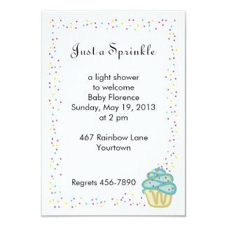 Baby Sprinkle Shower Invitation Blue Cupcake