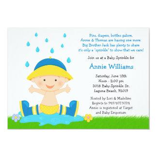 Baby Sprinkle Shower Invitation for Baby Boy