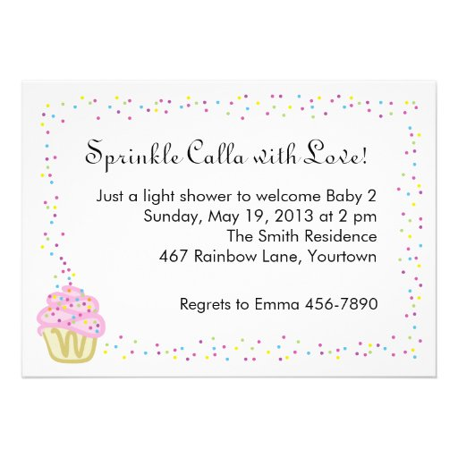 Sprinkle Baby Shower Invitation Wording was adorable invitation example
