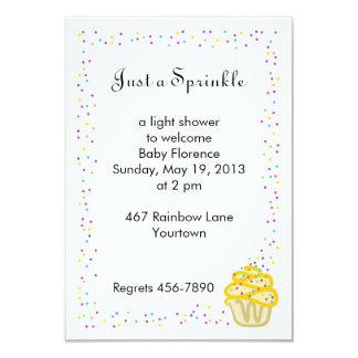 Baby Sprinkle Shower Invitation Yellow Cupcake