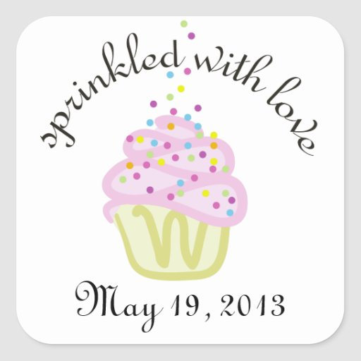 Baby Sprinkle Shower Square Stickers