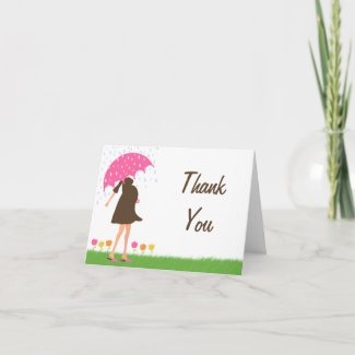 Baby Sprinkle Shower Thank You Card zazzle_card