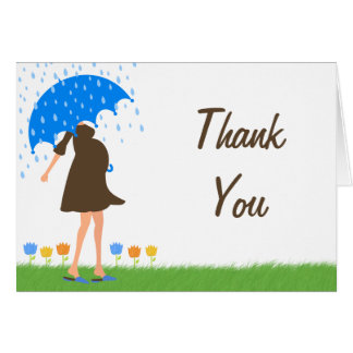 Baby Sprinkle Shower Thank You Card