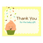Baby Sprinkle Thank You Gender Neutral Post Card