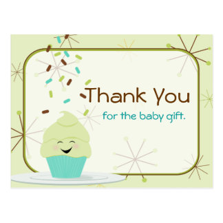 Baby Sprinkle Thank You Gender Neutral Postcard