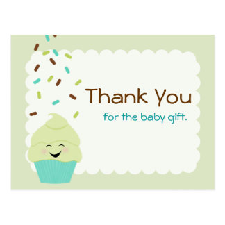 Baby Sprinkle Thank You Gender Neutral Post Cards