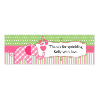 Baby Sprinkles Baby Shower Thank You Tags Double-Sided Mini Business Cards (Pack Of 20)