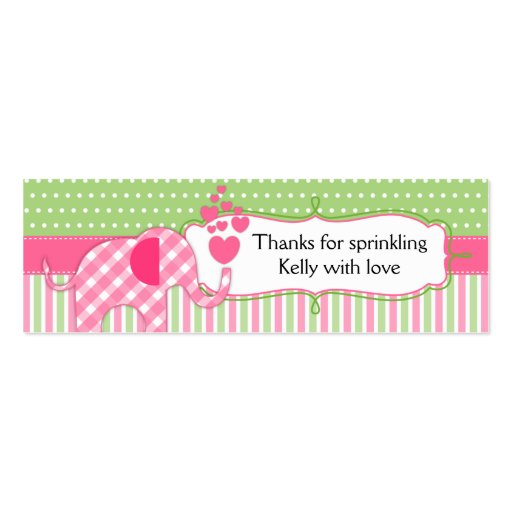 Baby Sprinkles Baby Shower Thank You Tags Business Cards