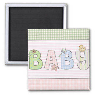 Baby- Square Magnets: Sweet Baby Collection 2 Inch Square Magnet