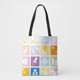 Baby Squares Tote Bag