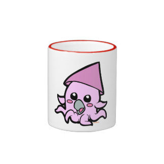 Baby squid pink coffee mugs