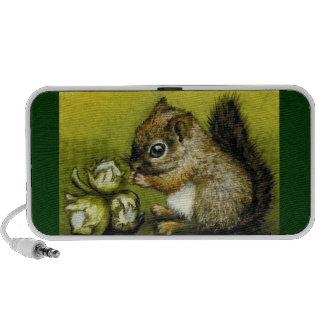 Baby squirrel and hazelnuts mini speaker