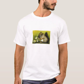 Baby squirrel and hazelnuts T-Shirt