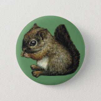 baby-squirrel badge pinback button