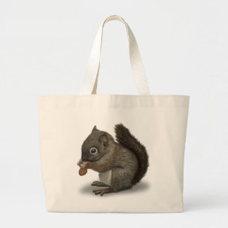 Baby Squirrel Jumbo Tote Bag