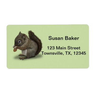 Baby Squirrel Label