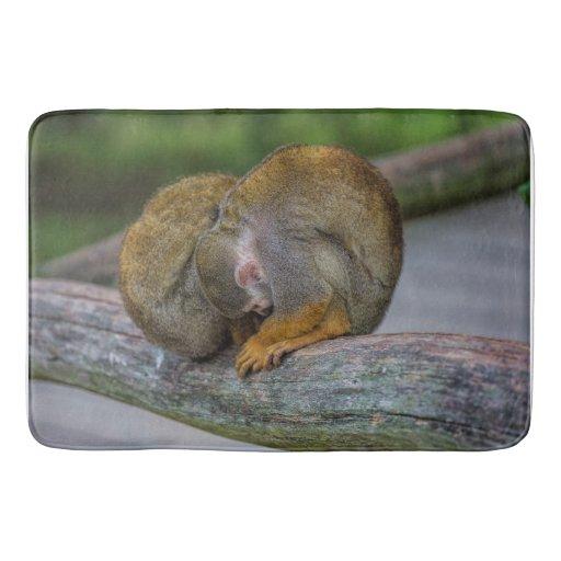 Baby Squirrel Monkey Bath Mat Zazzle