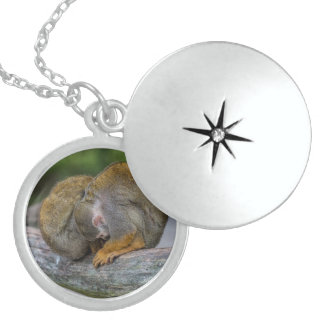 Baby Squirrel Monkey Sterling Silver Necklace