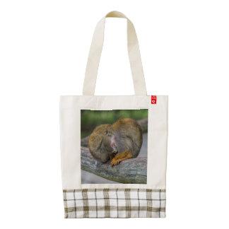 Baby Squirrel Monkey Zazzle HEART Tote Bag