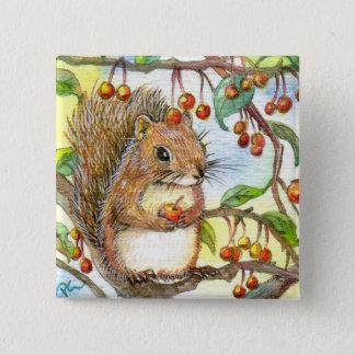 Baby Squirrel Pinback Button