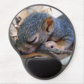 Baby Squirrel Sleeping Gel Mouse Pad