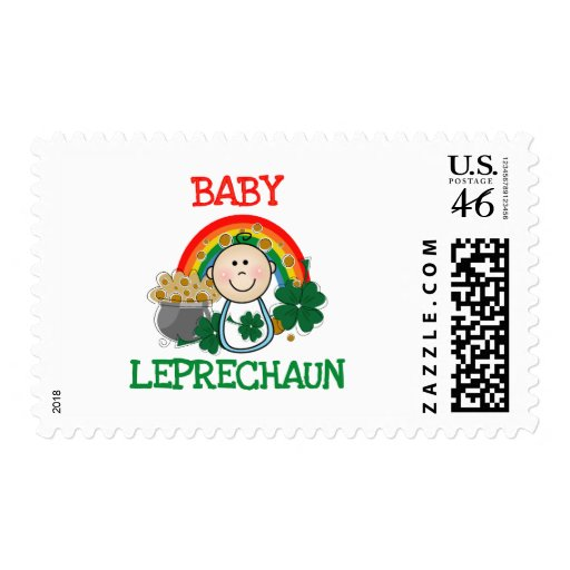 Baby St.  Patrick's Day Postage