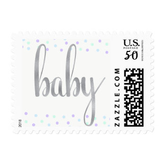 Baby stamps, mint/blue/purple, small postage