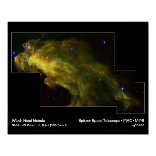 Baby Stars in the Witch Head Nebula Poster
