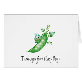 Baby Stationery/Thank You Card-Boy Pea in a Pod Greeting Card