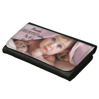 Baby Stats Photo Keepsake Wallet
