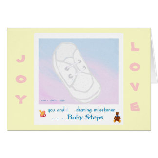 Baby Steps Baby Shower/Birth Greeting Card
