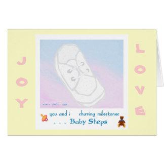 Baby Steps Baby Shower/Birth Greeting Card