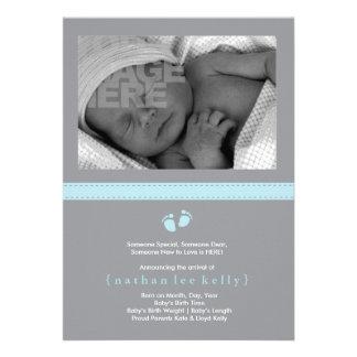 Baby Steps Birth Announcement