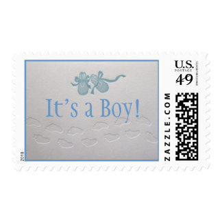 Baby Steps Birth Announcement Stamp