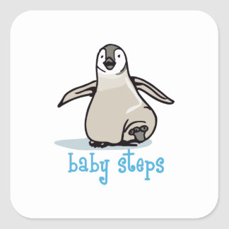 Baby Steps Square Sticker