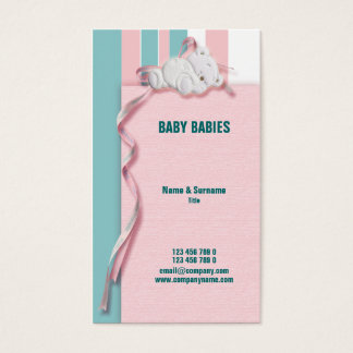 Baby store childcare infants nursery business card