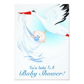 Baby & Stork Baby Shower Invitation 1