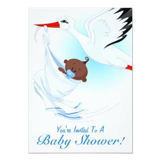 Baby & Stork Baby Shower Invitation 2