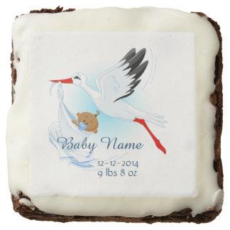 Baby & Stork Birth Announcement 3 - Brownie