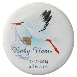 Baby & Stork Birth Announcement 3 - Oreo Cookies