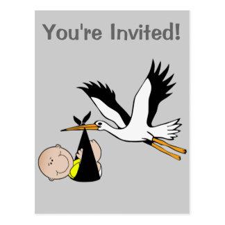 Baby & Stork - Bundle of Joy Postcard