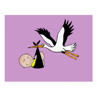 Baby & Stork - Bundle of Joy Postcard