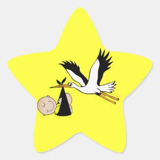 Baby & Stork - Bundle of Joy Star Sticker